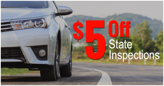 $5 off State Inspections
