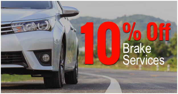 10% off Brake Services