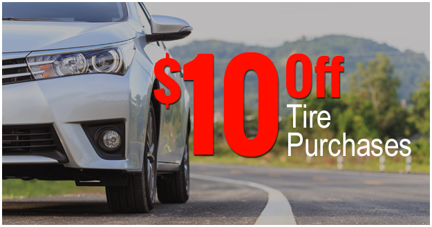 $10 Off Tire Purchases
